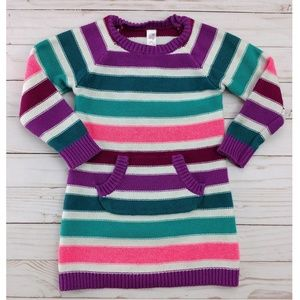 Cherokee Striped Knit Sweater Dress Long Sleeve